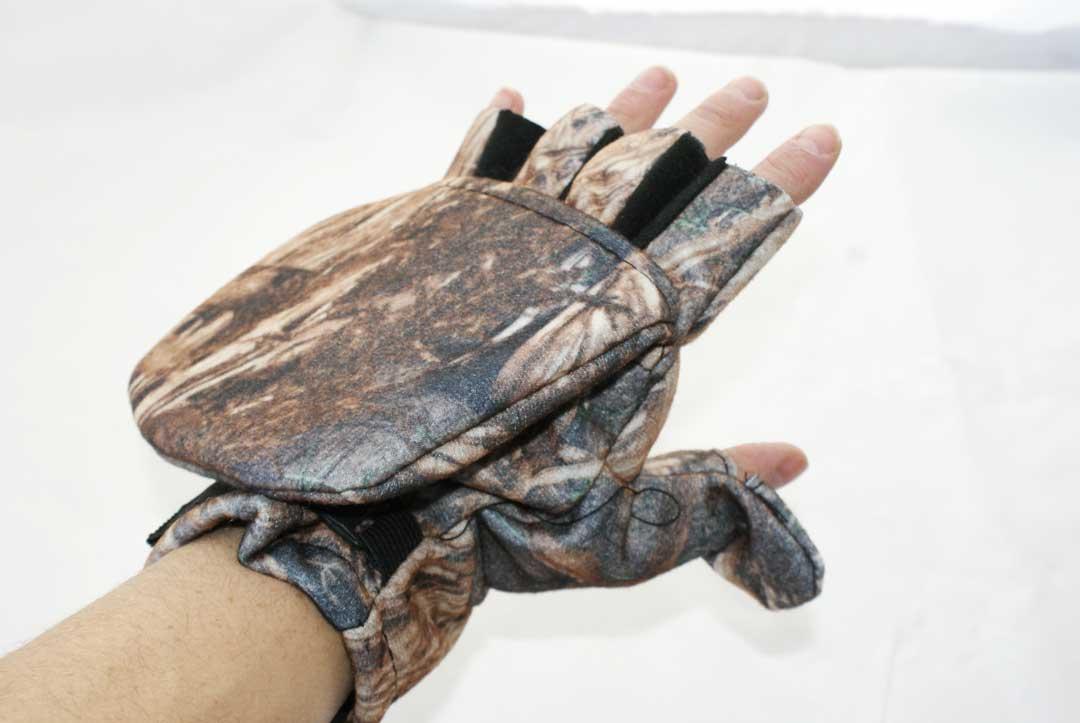 Перчатки - варежки для охоты и рыбалки LeRoy (камыш, дюспо бондинг)