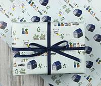 Папір пакувальна одностороння Прованс глянець 50х70 см ніжно-блакитна 80 г/м2