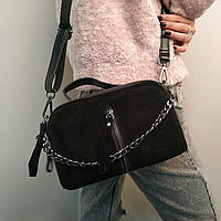 "Женская кожаная сумка ""Касандра 2 Black"", фото 1"