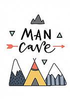 Постер Man Cave 30х40 см - 218603