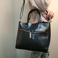 """Женская кожаная сумка """"Иветта Black"""", фото 1"""