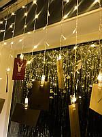 Новогодняя Гирлянда-бахрома «16 прищепок», фото 1