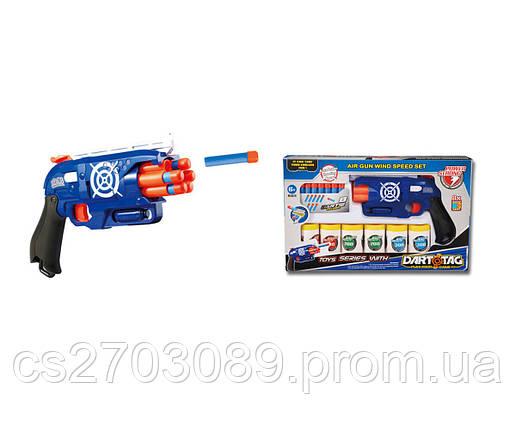 Пистолет игрушечный с аксессуарами, стреляет мягкими патронами, фото 2