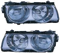 Фара передняя BMW 7 (E38) 98-02 левая, хром. рассеиват, электр. регулир.