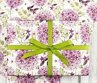 100х70 см Бумага упаковочная 80 г/м2 односторонняя Цветы белая крафт Чехия