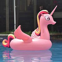 Надувная платформа-матрас Единорог Pink 200см - 218571