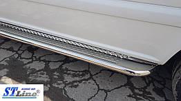Toyota Hiace (07+) боковые пороги подножки площадки на для Тойота Хайс Toyota Hiace (07+) d60х1,6мм