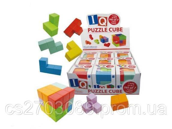 Кубик-пазл, размер 75мм. 7дет., фото 2
