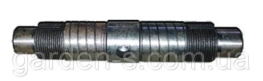 Вал дифференциала мототрактора Тип 2 (мелкая резьма со шлицом), фото 2