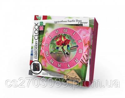 """Наб.д/ твор. """"Embrоidery Clock""""(гладдю) Колибри, фото 2"""