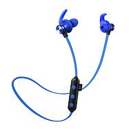 Беспроводные Bluetooth наушники Гарнитура с микрофоном + поддержка MicroSD карт до 32GB Синий