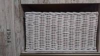 Плетений лоток ( короб) білого кольору. 55x50 вис. 30 см.
