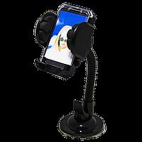 """Универсальный автомобильный держатель для устройств с экраном до 6.53"""" дюймов, черный цвет"""