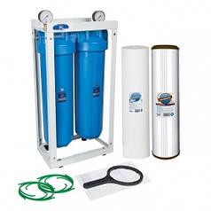 Двойная система обезжелезивания Aquafilter Big Blue 20