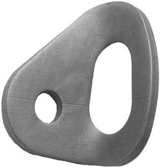 Проушина для шлямбура 10мм 2500 кг нержавейка полированная Вертикаль ver0604-1