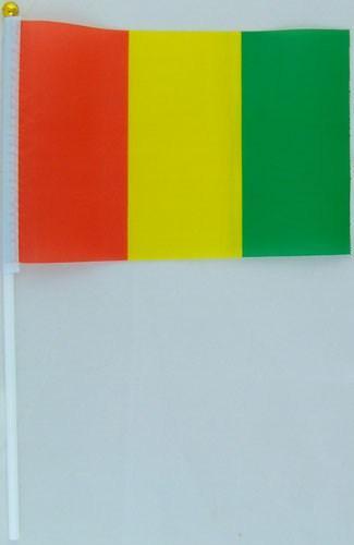 Флажок Гвинеи 13x20см на пластиковом флагштоке