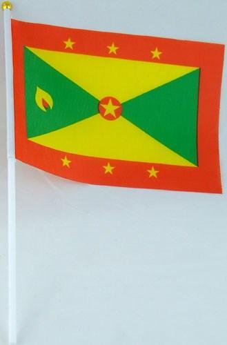 Флажок Гренады 13x20см на пластиковом флагштоке