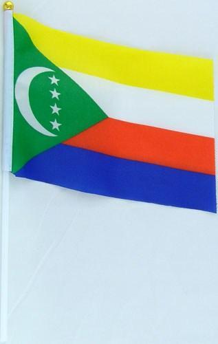 Флажок Комор 13x20см на пластиковом флагштоке