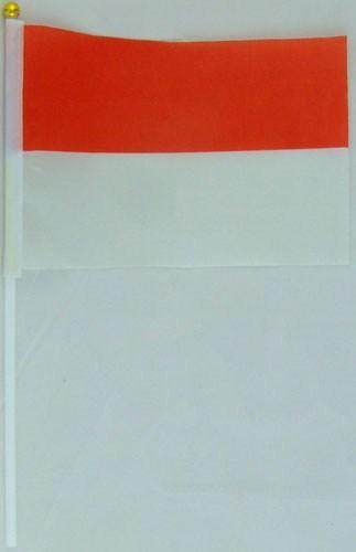 Флажок Польши, Монако 13x20см на пластиковом флагштоке