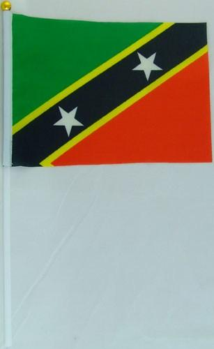 Флажок Сент-Китса и Невиса 13x20см на пластиковом флагштоке