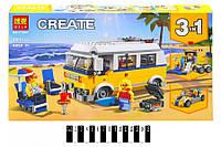 """Конструктор """"CREATOR"""" """"Солнечный фургон серфингиста"""" (коробка) 391дет. 11047 р.38,8*22*6 см. (шт.)"""