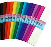 Бумага креповая 55% цветная синий