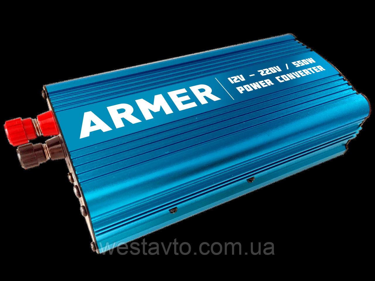 Конверт. напруги 12V-220V/550W/USB/мод.хвиля