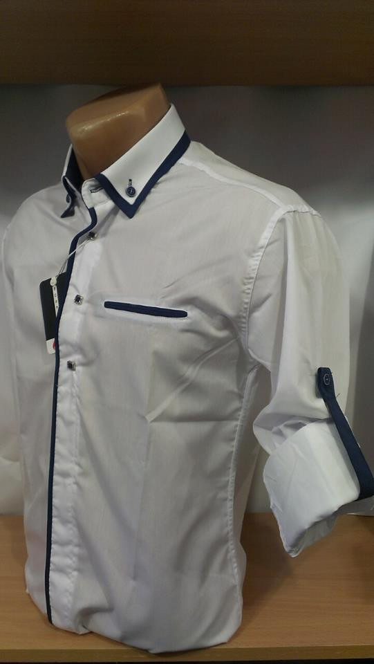 11fc1aa3cd0 Мужская рубашка BOSETTI приталенная рукав 3 4