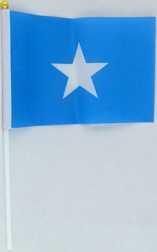 Флажок Сомали 13x20см на пластиковом флагштоке