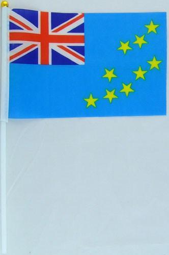 Флажок Тувалу 13x20см на пластиковом флагштоке