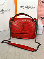 Женская стильная сумка красная серая, фото 1