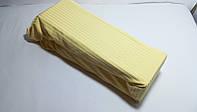 Простынь на резинке 100*200 желтая 100% Хлопок, Турции