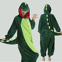 Пижама Кигуруми Динозавр зеленый (S)
