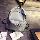 Однотонные рюкзаки молодежные с кольцами(розовый, чёрный, серый, белый), фото 5