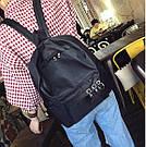 Однотонные рюкзаки молодежные с кольцами(розовый, чёрный, серый, белый), фото 7