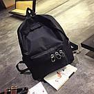Однотонные рюкзаки молодежные с кольцами(розовый, чёрный, серый, белый), фото 2