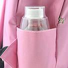 Однотонные рюкзаки молодежные с кольцами(розовый, чёрный, серый, белый), фото 10