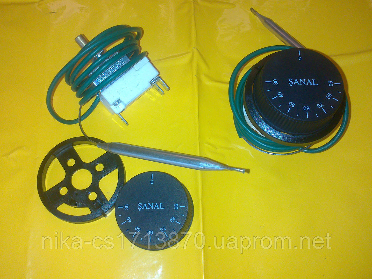 Терморегулятор температуры FSTB ( SANAL ) 30-90 С° с капиляром 16 А / 250 В. производство Турция
