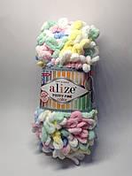 Пряжа для вязания руками без спиц Puffy Fine color Alize (100 грамм - 14 метров)