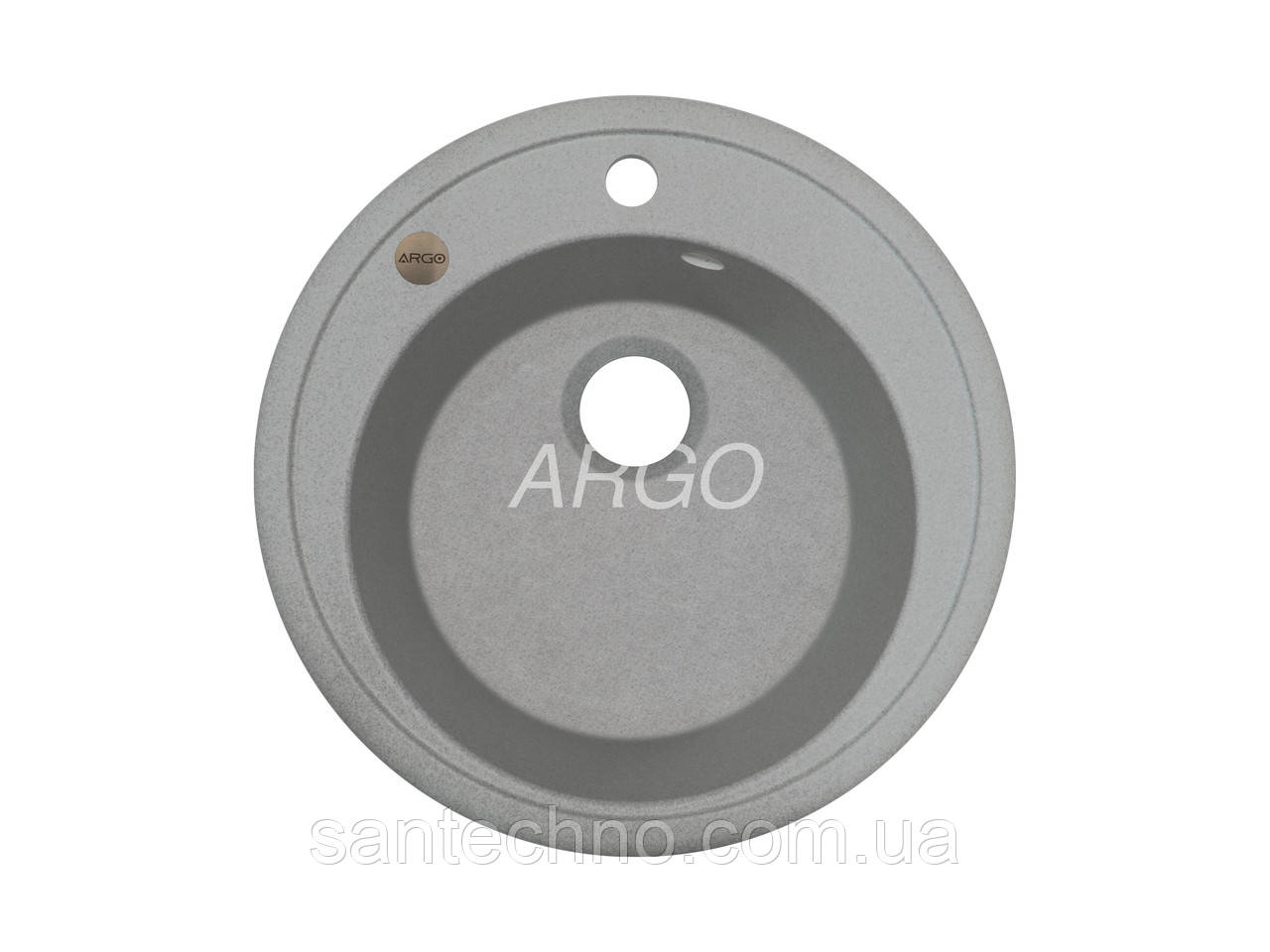 Гранітна мийка для кухні Argo Tondo Grey 510*200