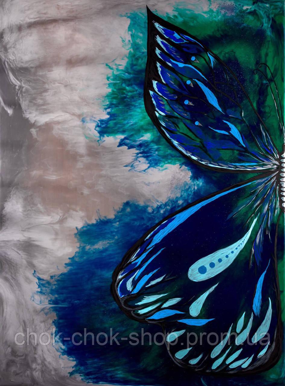 """Картина из эпоксидной смолы  """"Бабочка морская"""" №10050, ResinArt"""