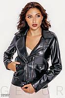 Куртка-косуха из эко-кожи черная