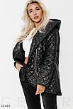 Удлиненная стеганая куртка демисезонная, фото 2