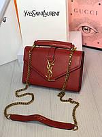 Женская бордовая стильная сумка, фото 1
