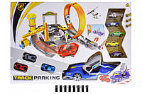 Паркинг с запуском (+7 машинок, коробка) P876-A р.60*41*8,5 см. (шт.)