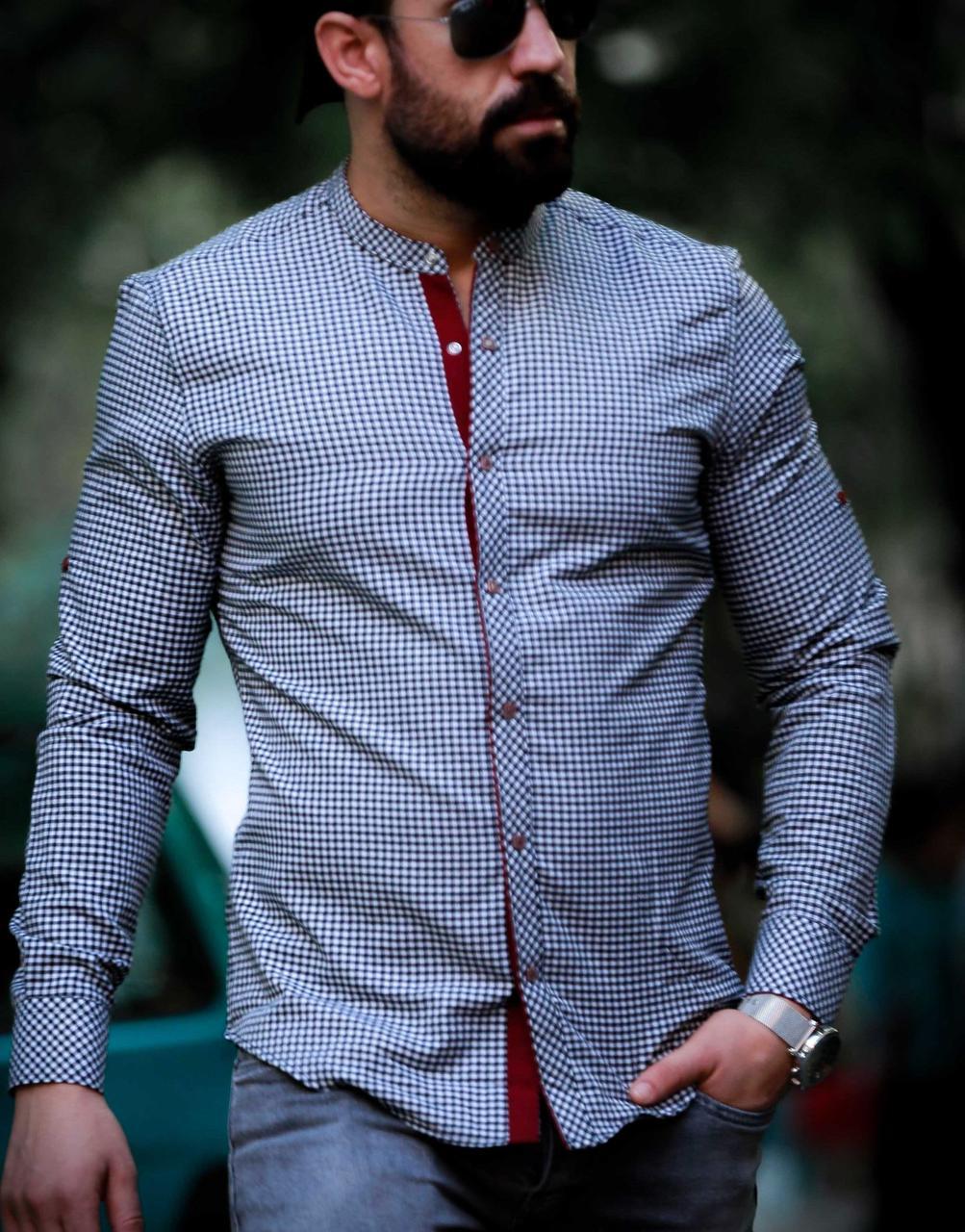 Приталені чоловіча сорочка