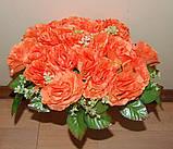 М-498 Букет роза кучерявая 24 головы 45х8 см, фото 2