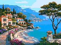 Картина по номерам на холсте с подрамником Райский уголок