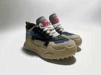 Женские бежевые кроссовки  Off-White из натуральной замши на литой подошве с шипами 38 размер
