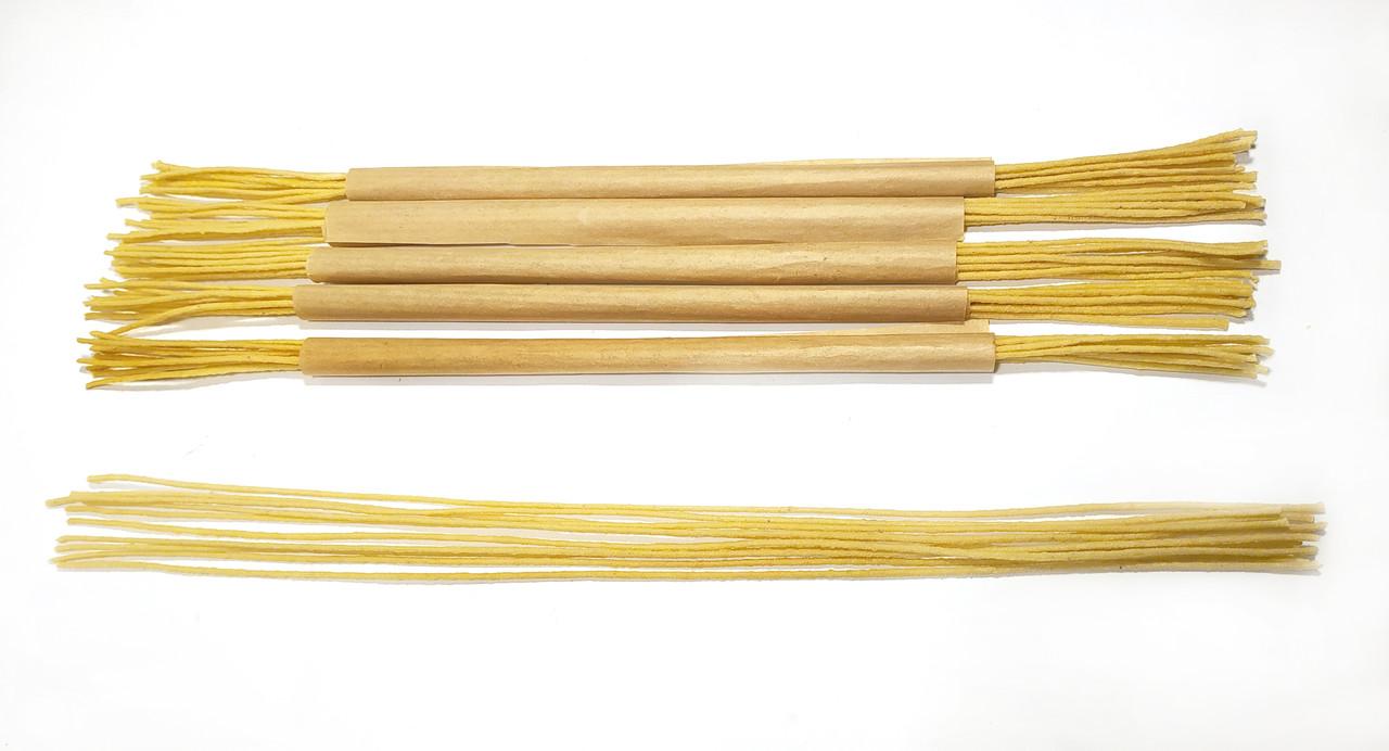 Фитиль диаметром 1,5 мм вощеный 3 метра (10 шт по 30 см) для свечей из вощины
